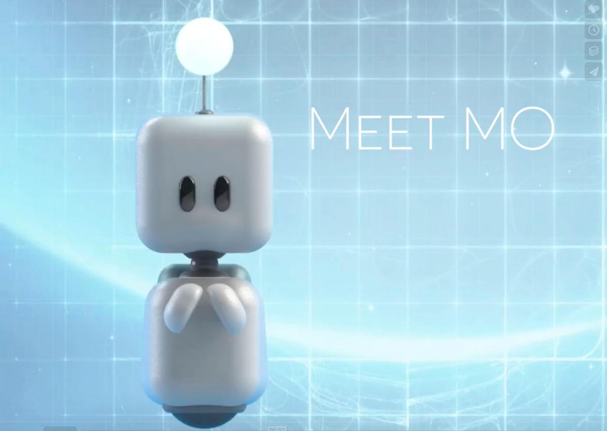 Schattige robot Mo